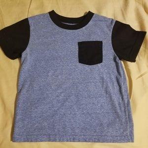 3T boys Garanimals blue & black short sleeve shirt